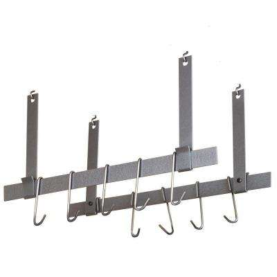 Rack It Up Ceiling Bar Pot Rack (Pair) Steel Gray