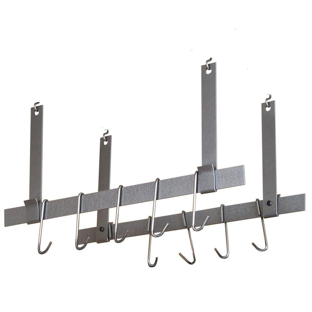 Rack It Up Ceiling Bars Pair With 12 Hooks Steel Gray Hammertone