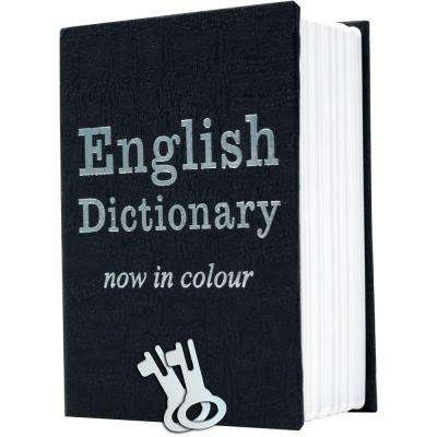 0.7 cu. ft. Metal Mini Dictionary Diversion Book Safe, Black