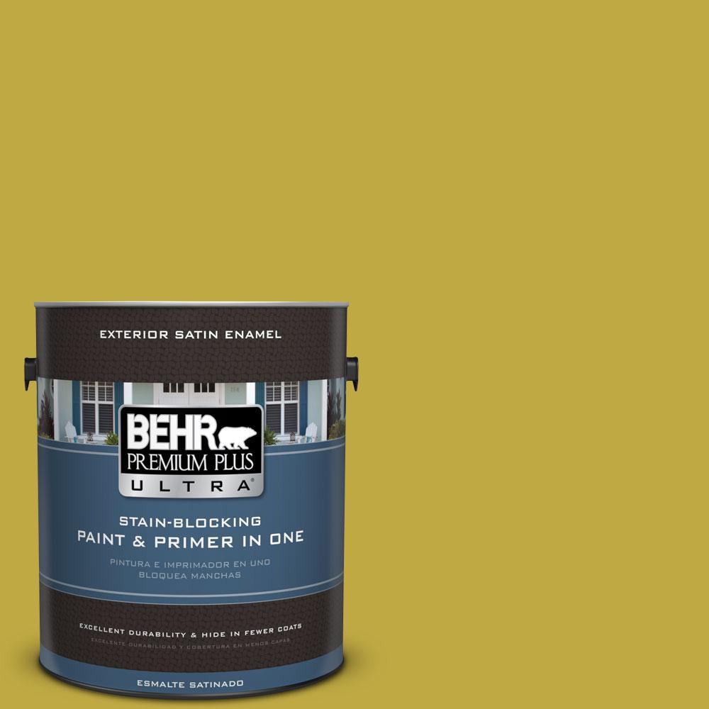 BEHR Premium Plus Ultra 1-gal. #P330-6 Margarita Satin Enamel Exterior Paint