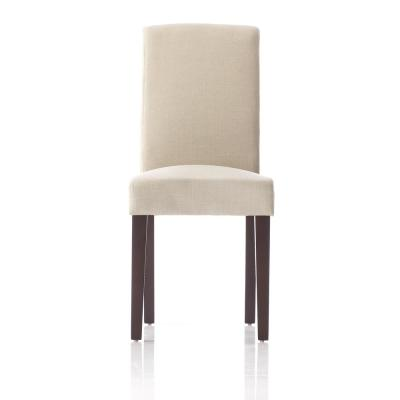 Parsons Grey Faux Linen Dining Chair