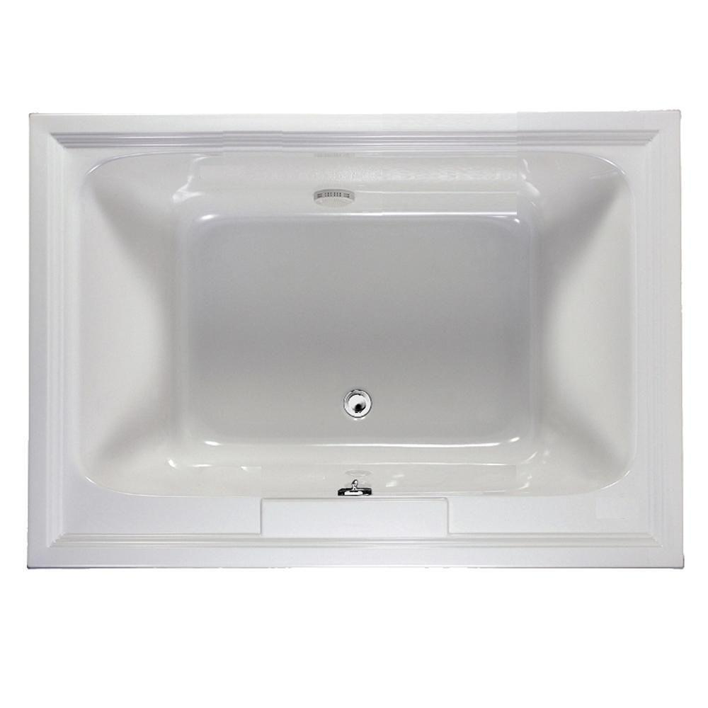 American Standard Town Square 5 Ft X 42 In Center Drain Soaking Bathtub