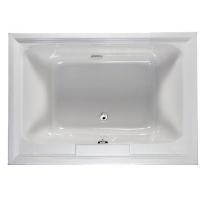 Town Square 5 ft. x 42 in. Center Drain Soaking Bathtub in Arctic White