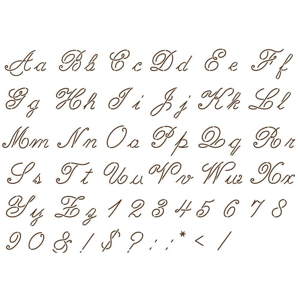 Martha Stewart Crafts Script Alphabet Paper Stencils