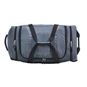 40ff17be8858 Wrangler 30 in. Gray 2-Section Drop-Bottom Rolling Duffel Bag-WR ...