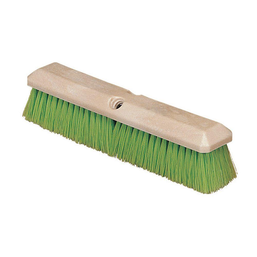 Flo-Pak 14 in. Nylex Vehicle Wash Scrub Brush in Green (C...