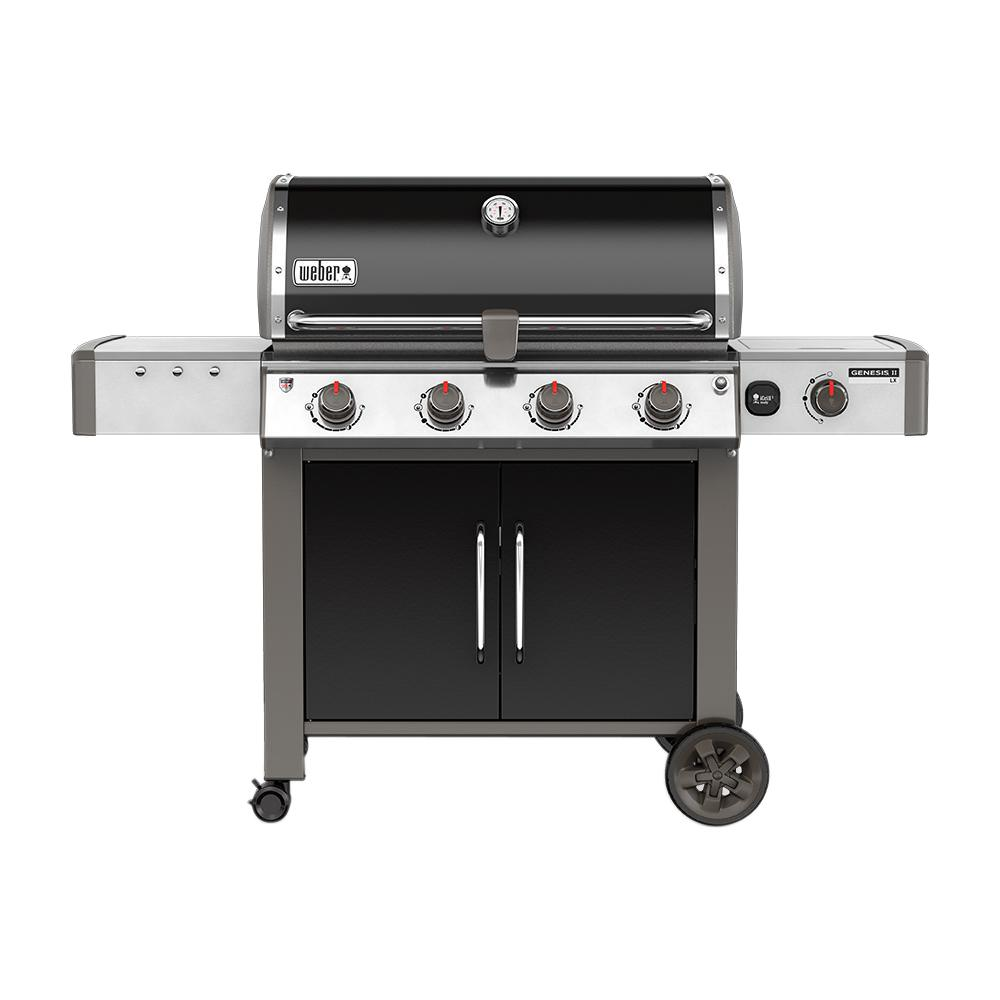 weber genesis ii lx e 440 4 burner natural gas grill in black with
