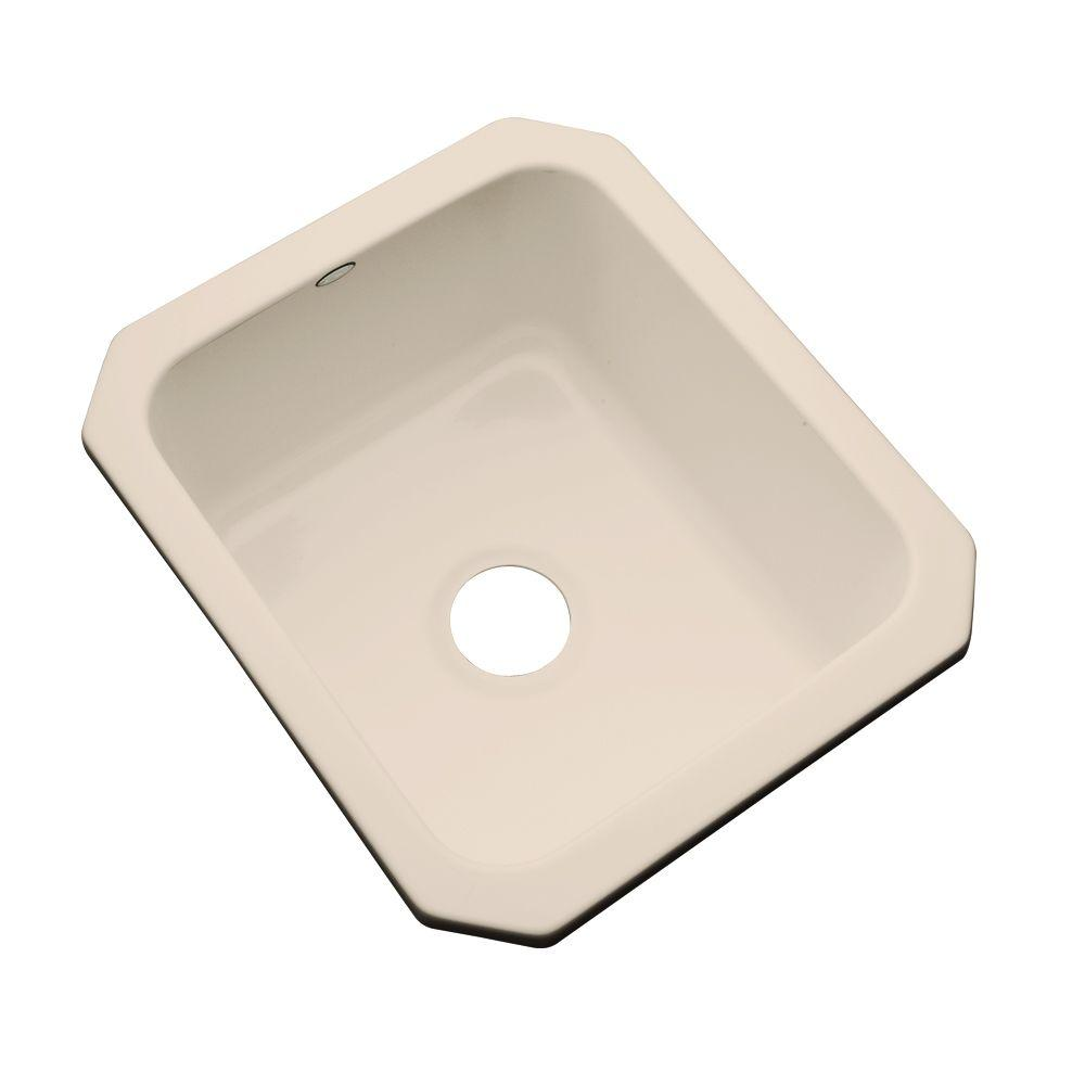 Crisfield Undermount Acrylic 17 in. Single Bowl Entertainment Sink in Candle
