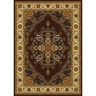Royalty Brown/Ivory 7 ft. 8 in. x 10 ft. 4 in. Indoor Area Rug