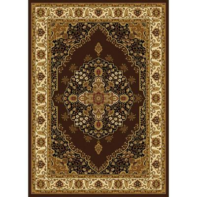 Royalty Brown/Ivory 4 ft. x 5 ft. Indoor Area Rug