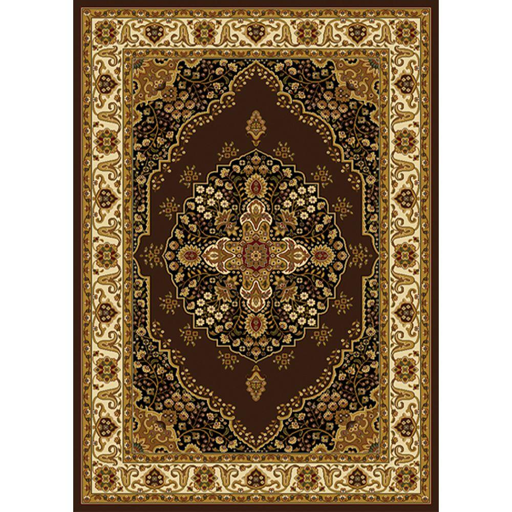 Home Dynamix Royalty Brown/Ivory 2 ft. x 7 ft. Indoor Area Rug