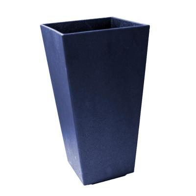 Sonata 14 in. x 28 in. Navy Rubber Self-Watering Planter