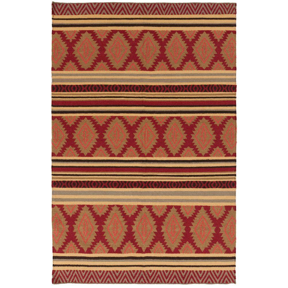 Artistic Weavers Lucia Redwood 8 ft. x 11 ft. Flatweave Area Rug