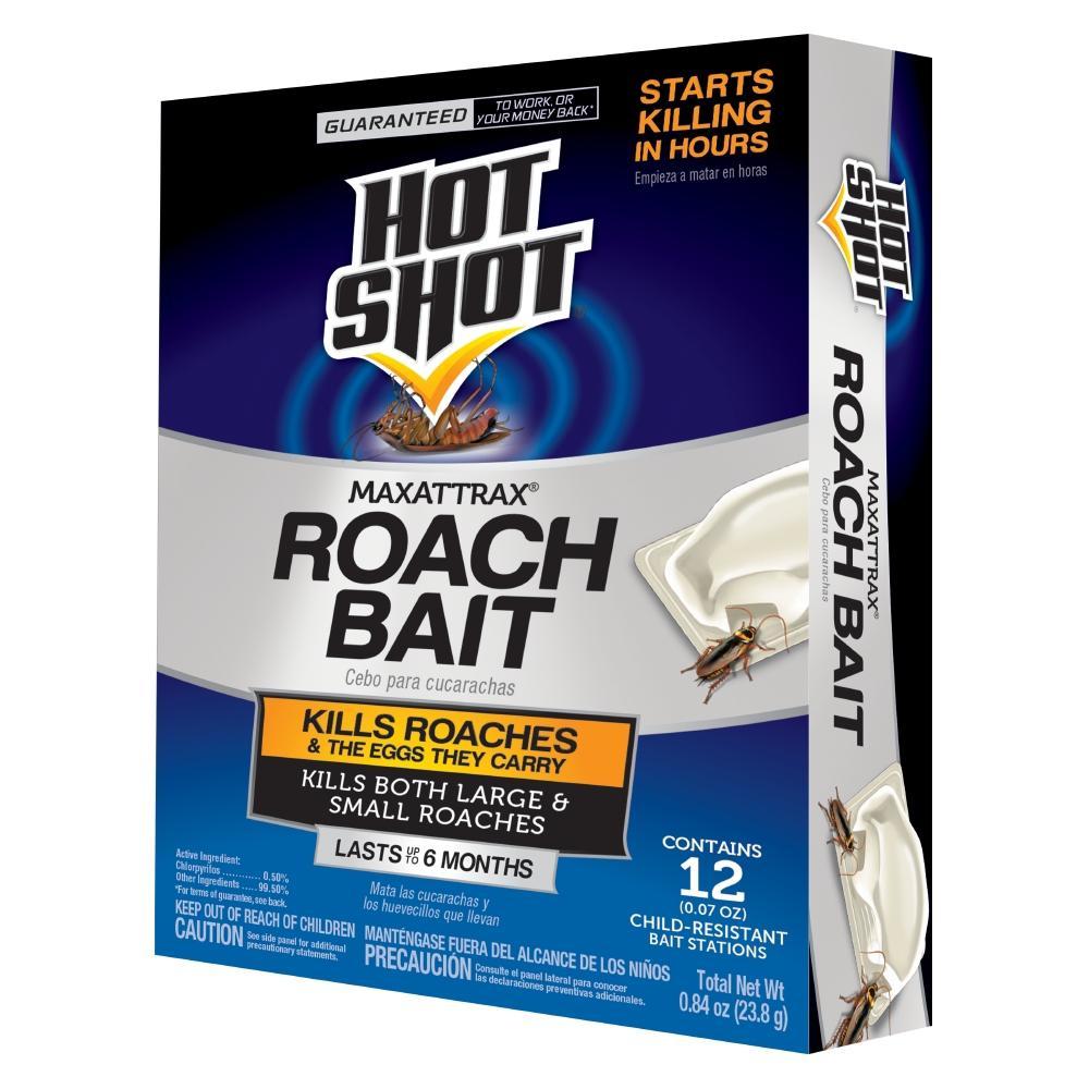 Hot Shot MaxAttrax Roach Bait (12-Count)