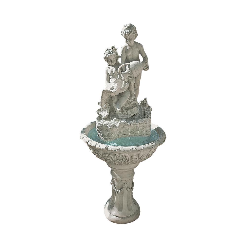 Portare Acqua Italian-Style Stone Bonded Resin Sculptural Fountain