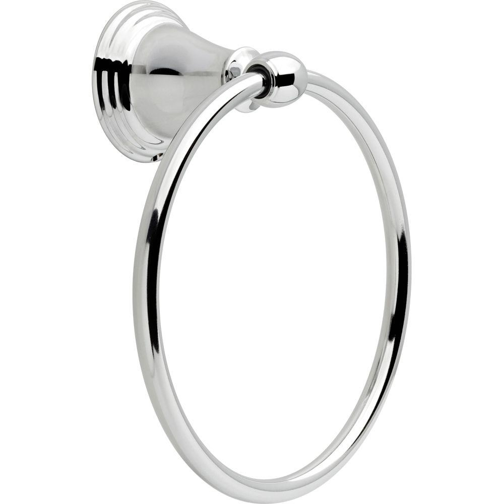 Delta Windemere Towel Ring in Chrome