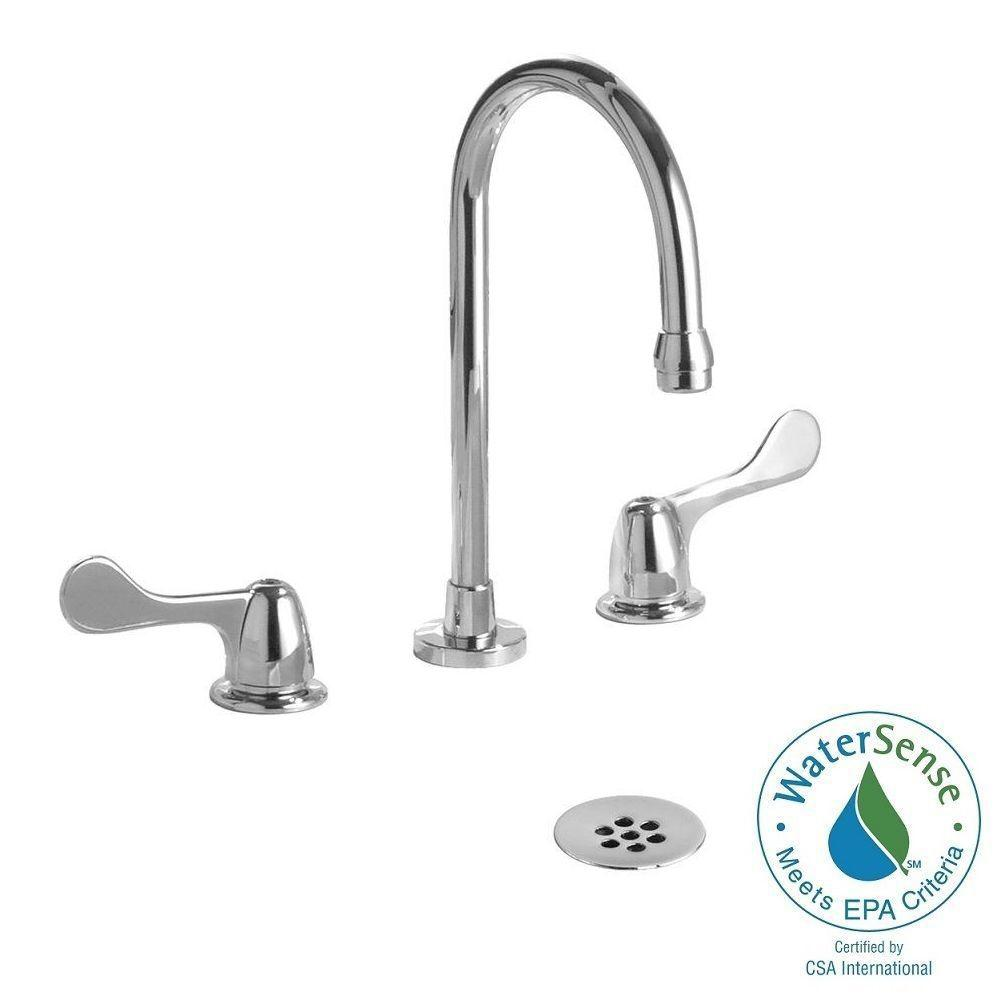 Commercial 8 in. Widespread 2-Handle Bathroom Faucet in Chrome