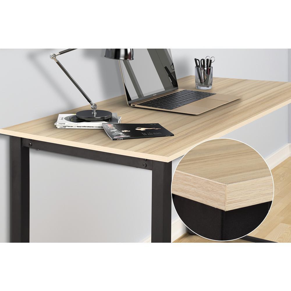 Merax Oak Modern Simple Design Computer Desk Table ...