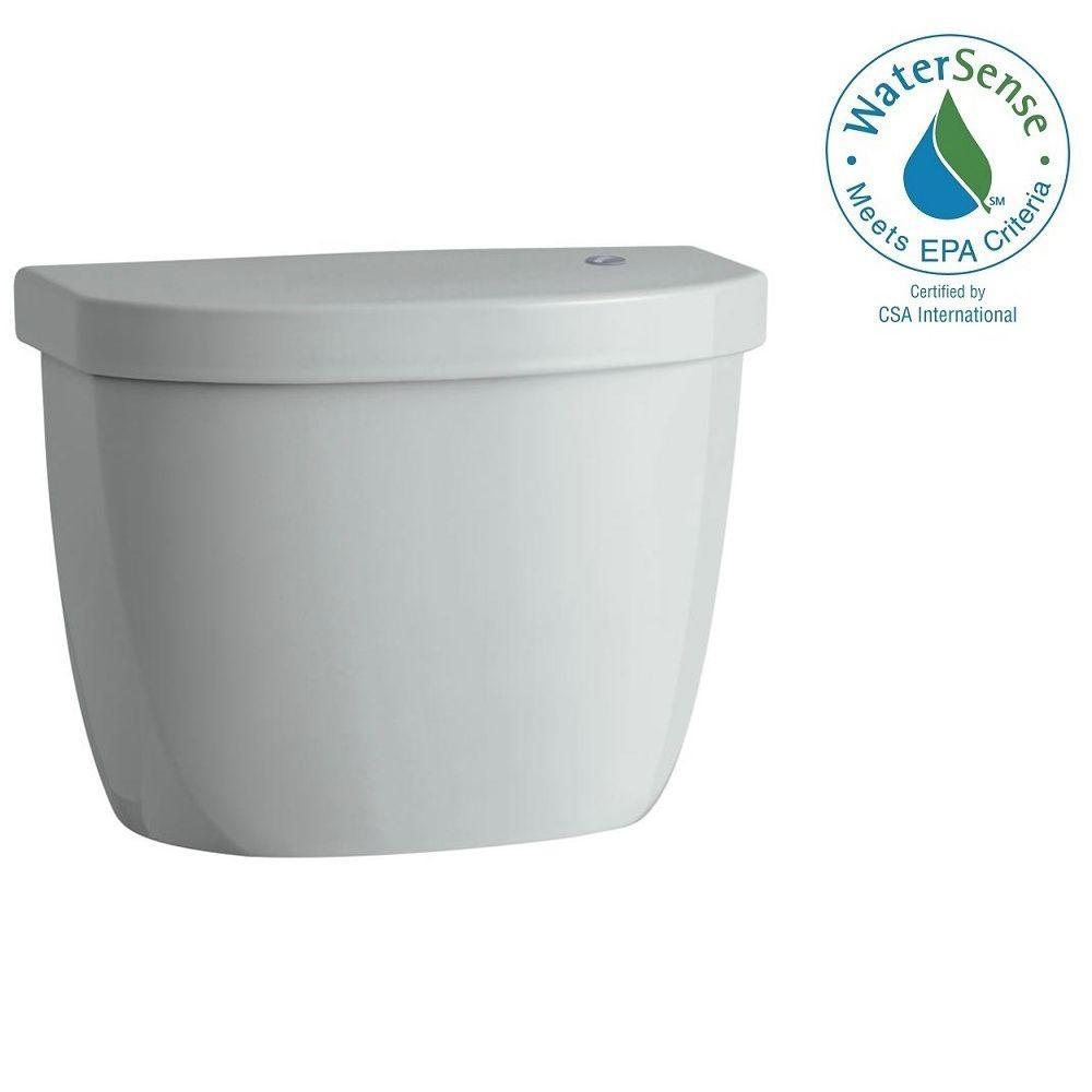 Cimarron Touchless 1.28 GPF Single Flush Toilet Tank Only in Ice Grey