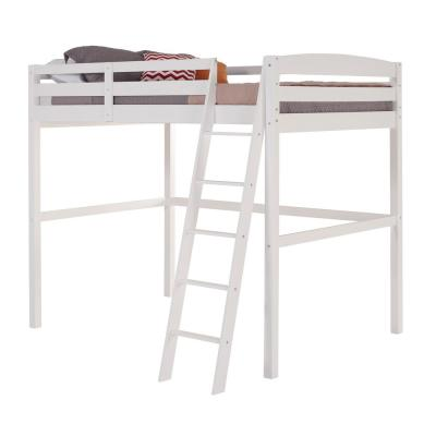 Concord White Twin Size High Loft Bed