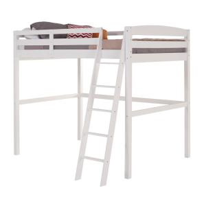 Concord White Full Size High Loft Bed