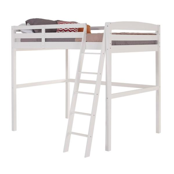 Camaflexi Tribeca White Full Size High Loft Bed T1403f The Home Depot