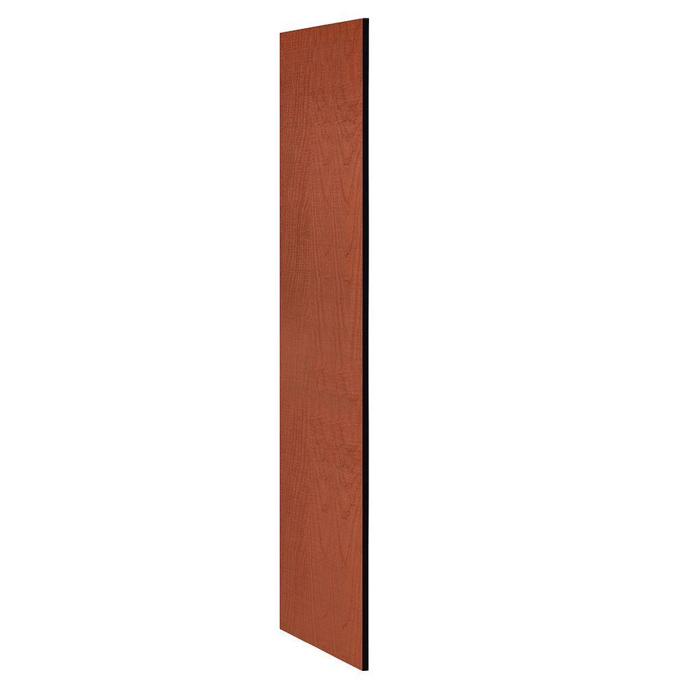 Salsbury Industries Designer Wood Side Panel without Sloping Hood for 21 in. Deep Designer Wood Locker in Cherry