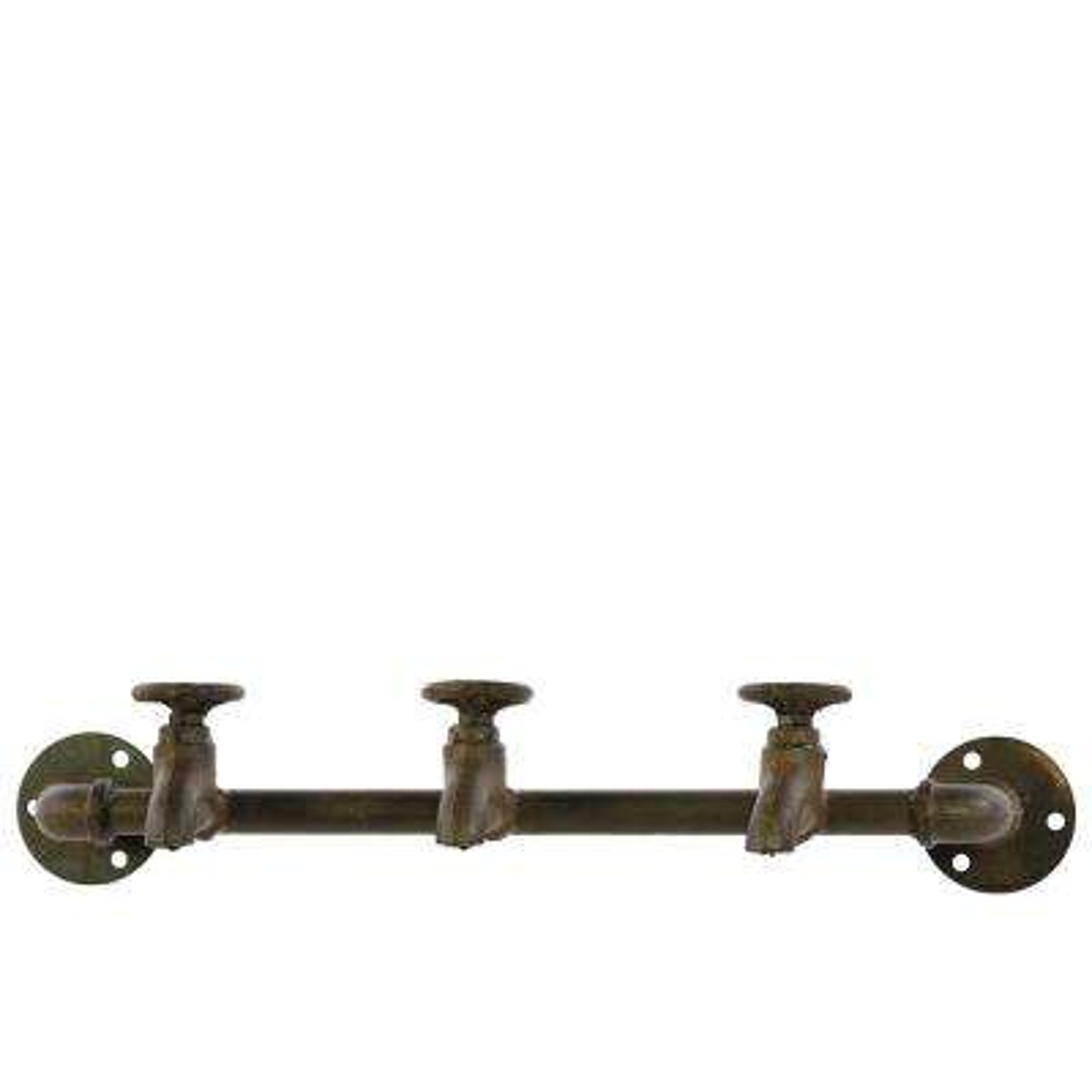 Rust Brown Coat Hanger with Plumbing Theme
