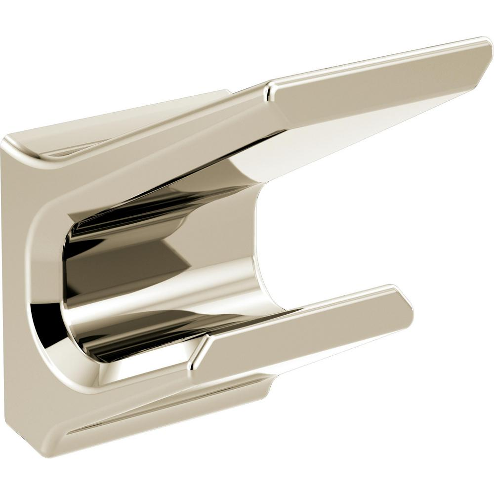 Delta Delta Pivotal Double Robe Hook in Polished Nickel