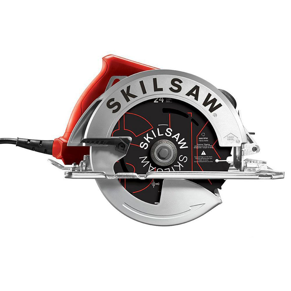Skilsaw 15 Amp Corded Electric 7 1 4 In Circular Saw With 24 Tooth Skilsaw Carbide Blade Spt67we 01 The Home Depot