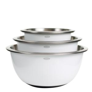 Click here to buy OXO Good Grips 3-Piece Stainless Steel Mixing Bowl Set by OXO.