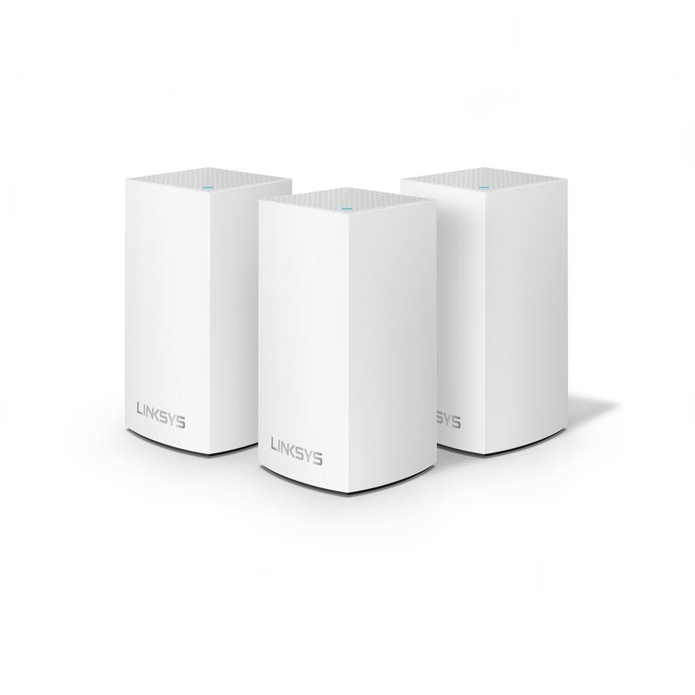 Linksys Velop Jr. Whole Home Mesh Wi-Fi System (Pack of 3) Velop with Intelligent Mesh Technology is an award-winning family mesh Wi-Fi system created to work seamlessly together. Mix and match nodes with different speeds to customize performance or interchange colors to coordinate with your home style. Regardless of shape, size or wherever your internet comes in, Velop can be customized to your home.