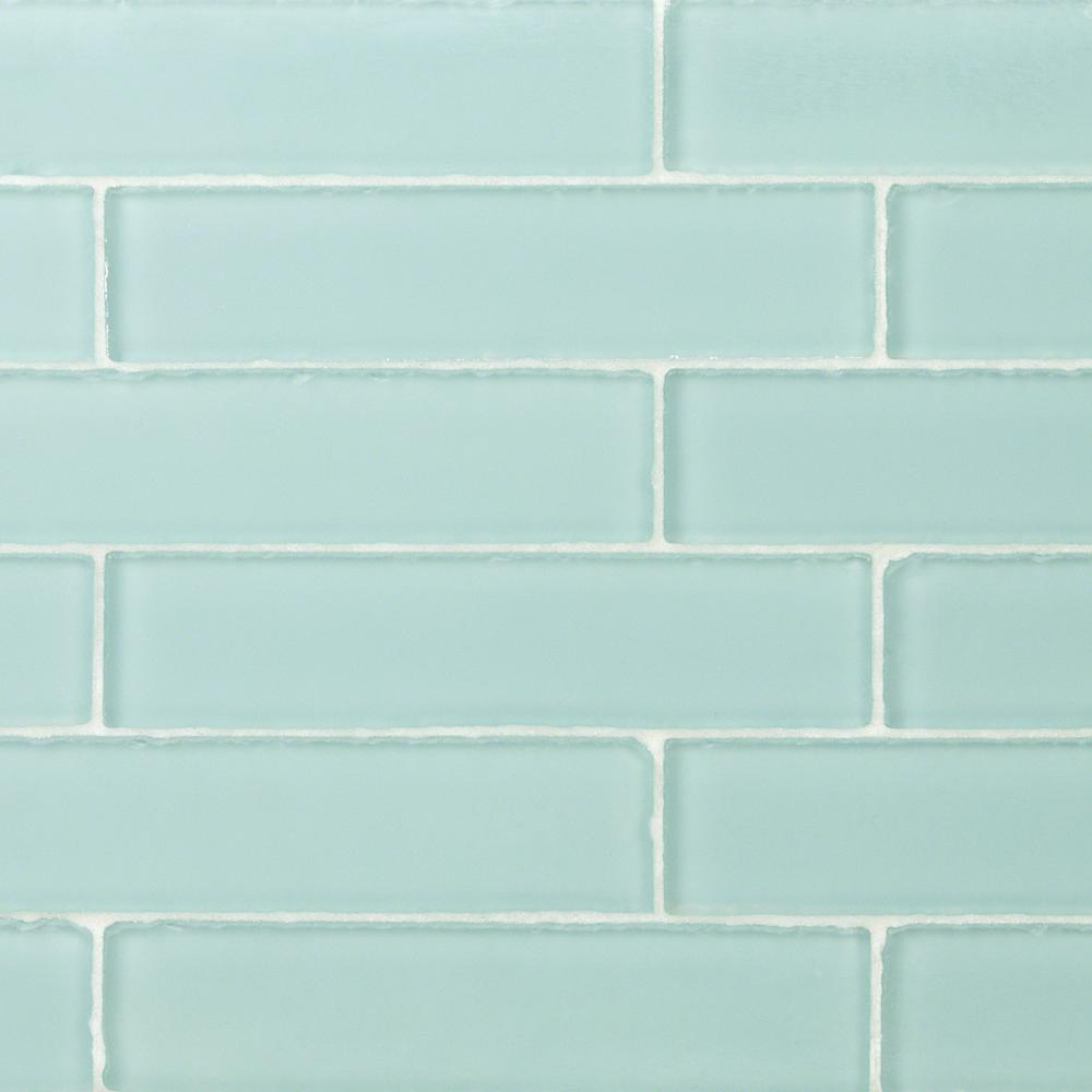 - Ivy Hill Tile Ocean Aqua Beached 2 In. X 8 In. X 8 Mm Frosted Glass Subway  Tile (36 Pieces 4 Sq.ft./Box)-EXT3RD100386 - The Home Depot