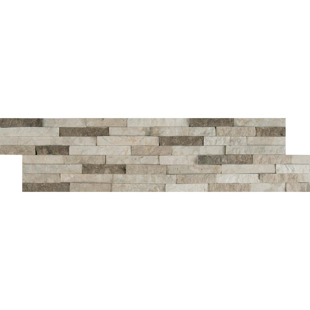 Colorado Canyon Pencil Ledger Panel 6 in. x 24 in. Marble