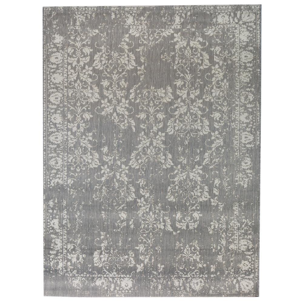 Distressed Grey 5 ft. 3 in. x 7 ft. Indoor/Outdoor Area Rug