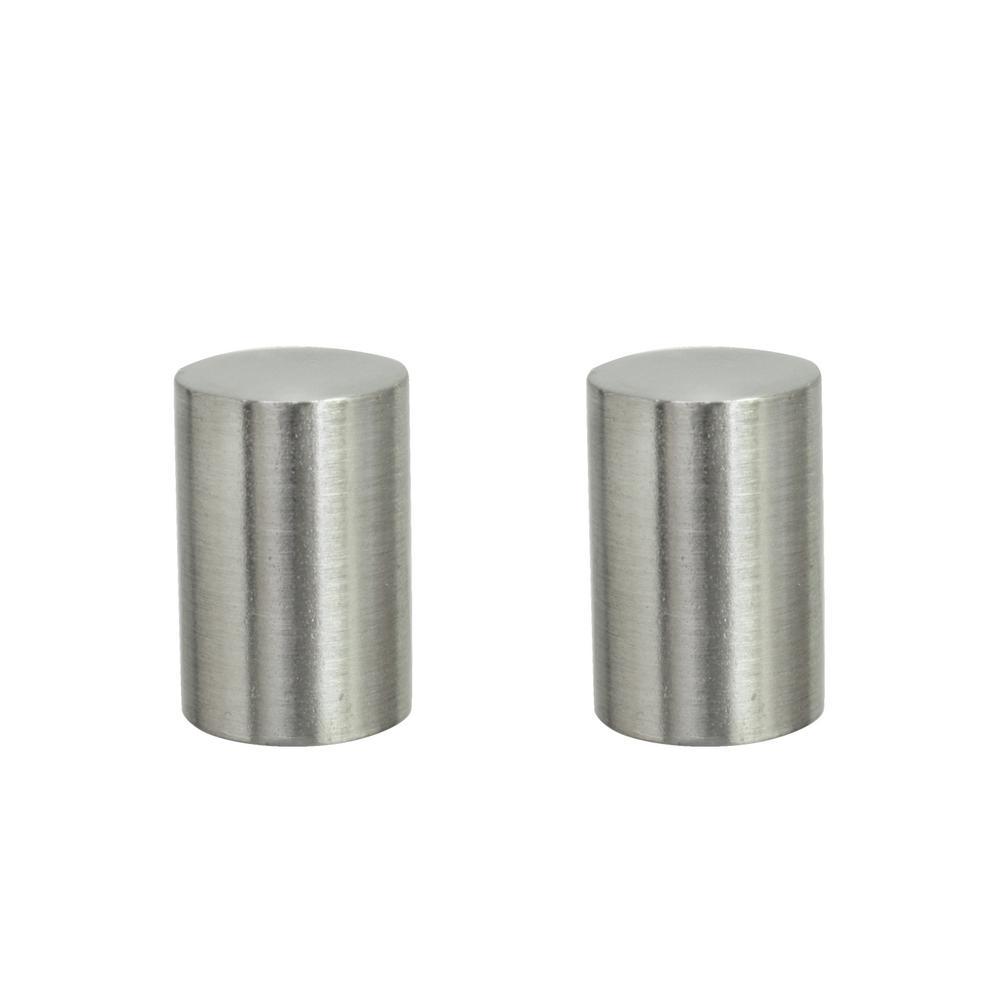 1-1/4 in. Brushed Nickel Steel Lamp Finial (2-Pack)