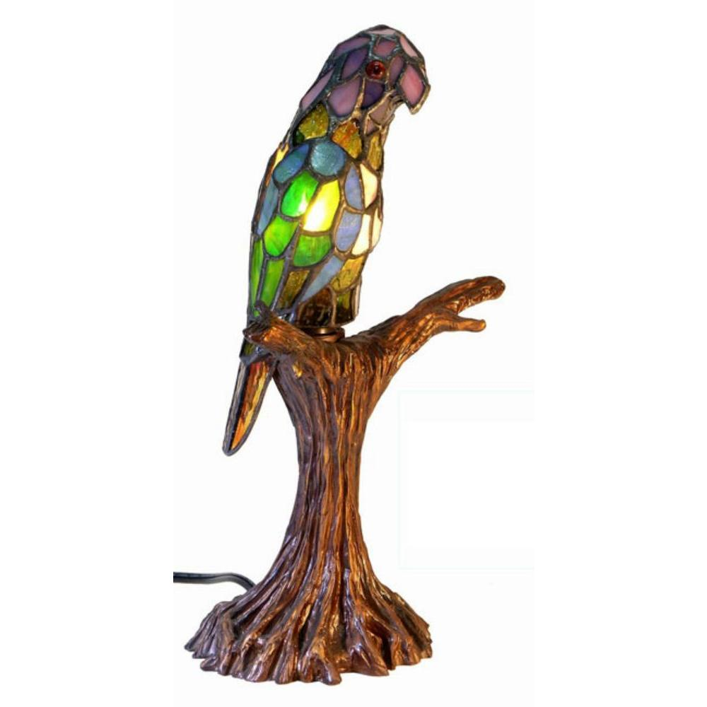 16 in. Parrot Multicolored Accent Lamp with Inline Switch