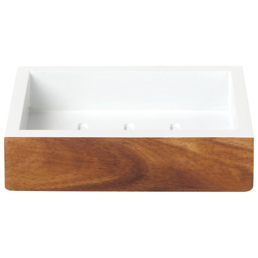 Hedland Soap Dish in Brown and White