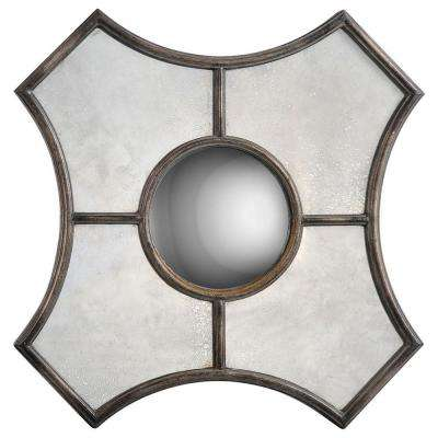 Luna 24 in. x 24 in. Traditional Framed Mirror