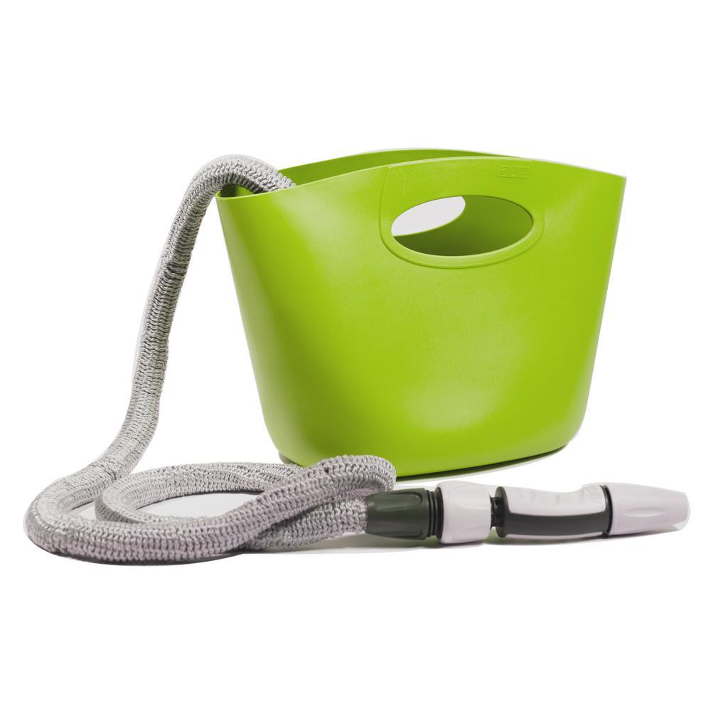 Aquapop 1 in. dia. x 50 ft. Mini Extendable Hose Kit in Lime