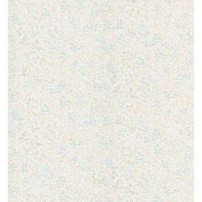 Kitchen and Bath Resource II Light Blue Small Leak Trail Wallpaper Sample