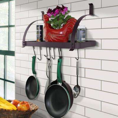 One Piece Bordeaux Bookshelf Wall Rack With 8 Hooks