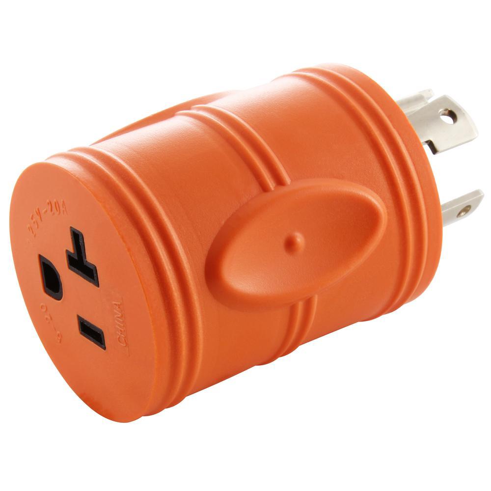 AC WORKS Locking Adapter NEMA L14-30P 30Amp 125/250Volt 4Prong Locking on