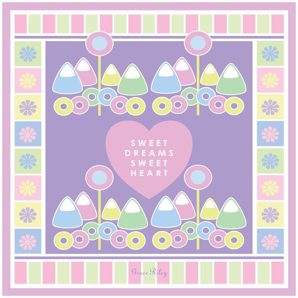 24 in. x 24 in. Sweet Dreams Sweet Heart - Girl