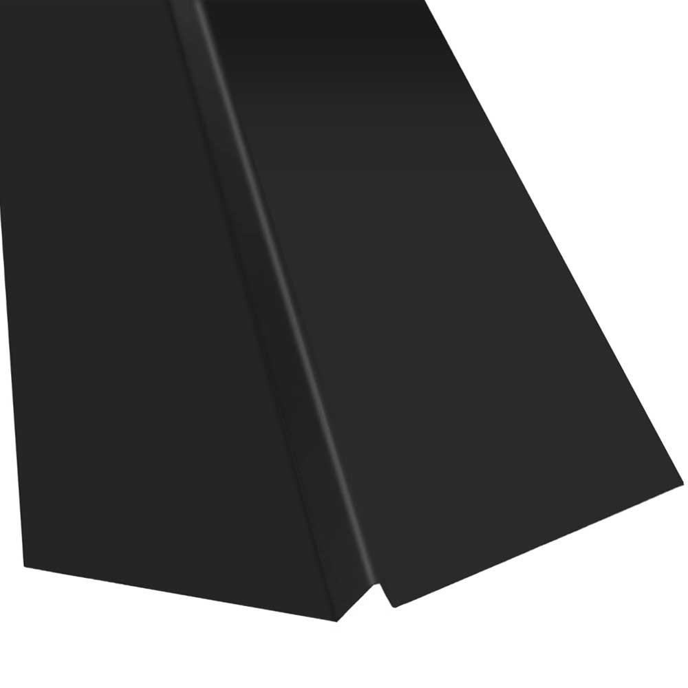 Gibraltar Building Products 20 in. x 10 ft. Galvanized Steel W-Valley Flashing in Black