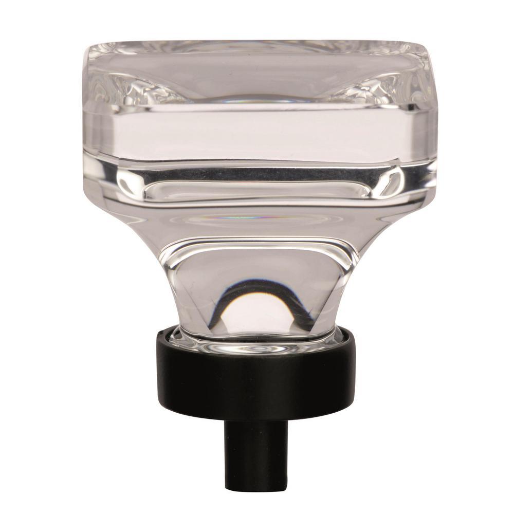 Glacio 1-3/8 in (35 mm) Length Clear/Black Bronze Cabinet Knob