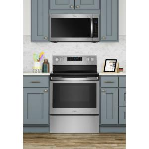 7 Whirlpool 2 1 Cu Ft Over The Range Microwave In Fingerprint Resistant Stainless Steel With