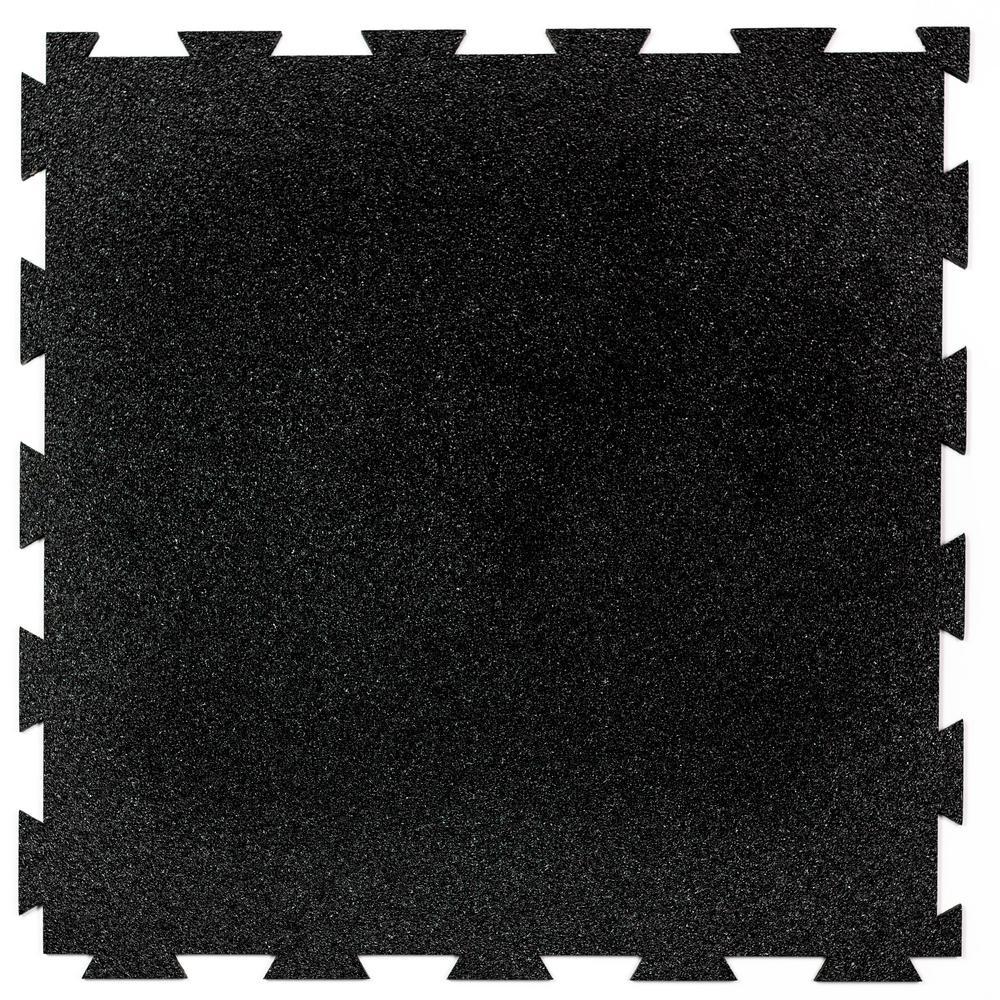 Floorx 1 58 Ft X 1 58 Ft Obsidian Floorx Precision Lock Utility Rubber Flooring 25 Sq Ft Pack Asl8cr0141204ax114 The Home Depot