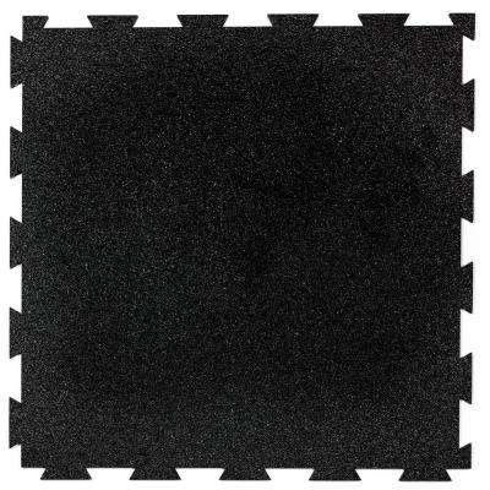1.58 ft. x 1.58 ft. Obsidian FlooRx Precision Lock Utility Rubber Flooring (25 sq. ft./Pack)