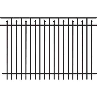 Brilliance Heavy-Duty 5 ft. H x 8 ft. W Black Aluminum Pre-Assembled Fence Panel